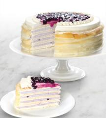 Blueberry Cheesecake Mille Crepe