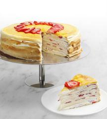 Strawberry Shortcake Mille Crepe
